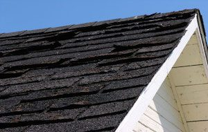 Damaged roof requiring a roofing estimate in Vancouver WA