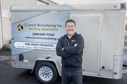 Tim Current owner of Current Remodeling, Inc. roofing company in Vancouver WA